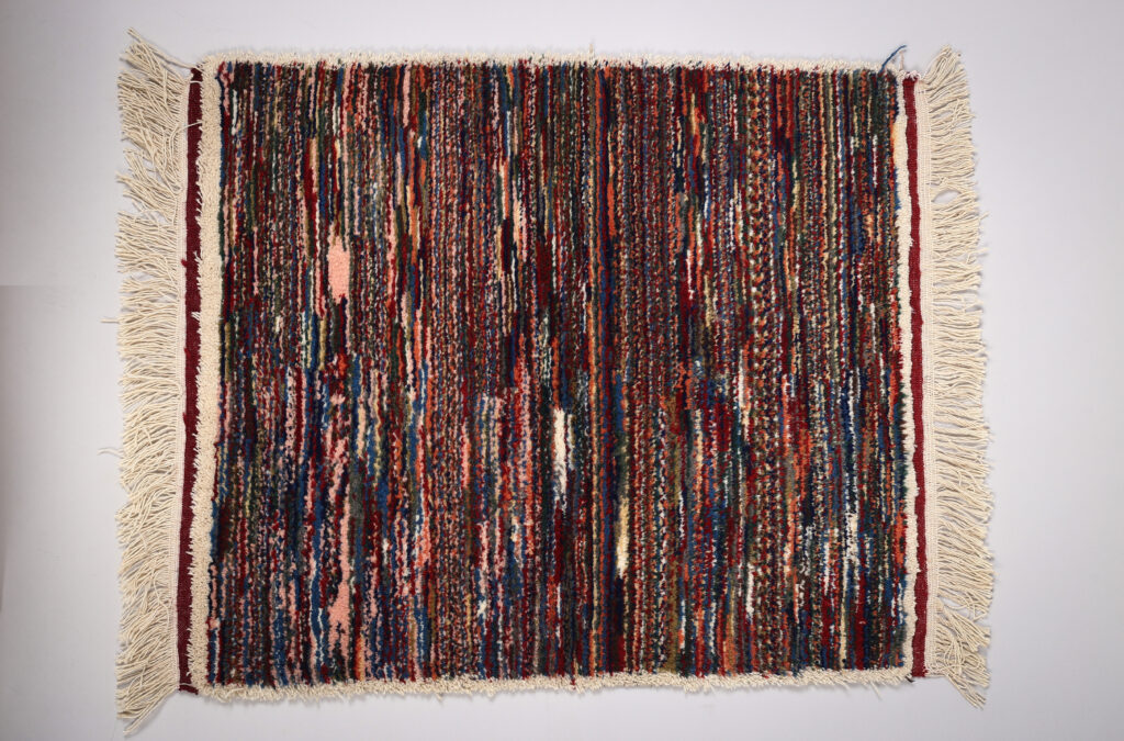 The Noise of Silence - Fatima Khademi (2021). Hand-woven carpet.